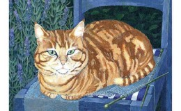 "Acrylic artwork ""Knitting Tigger"""