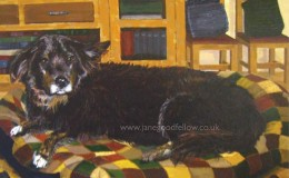 "Acrylic artwork of ""Ben"" a much loved pet"
