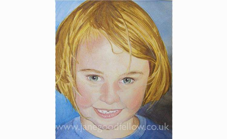 "Watercolour of ""Katie"""