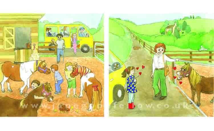 "Illustration ""Ponies"""