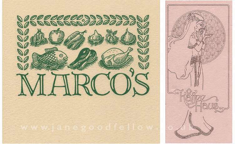 Marco's & Kaffee Haus illustrations