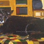 """Acrylic artwork of """"Ben"""" a much loved pet"""