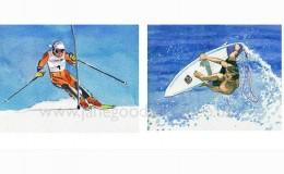 "Illustration ""Ski & Surf"""