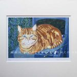 For Sale: Tigger's Knitting Print